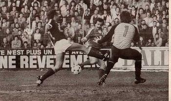 Le 23 avril 1982, Brest bat Bordeaux sur le score de 3-1 grâce à un triplé de Drago Vabec